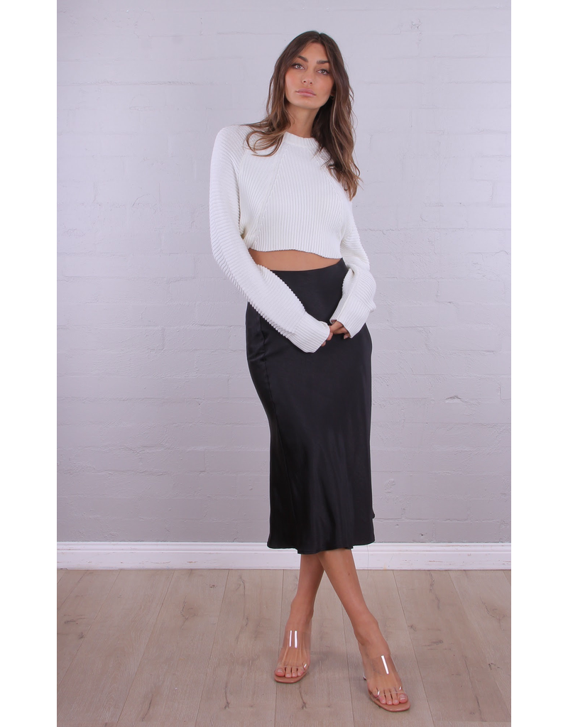 Angelina Silk Skirt