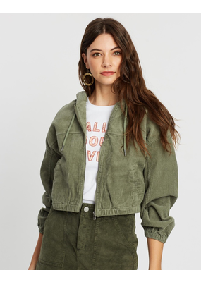 All About Eve Cord Zip Through Jacket