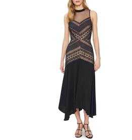 Cooper St Ana Lace Contrast Midi Dress