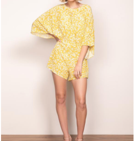 Wish Wish Golden Bloom Playsuit