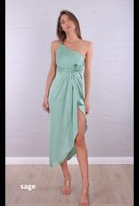 Sage Twist Dress
