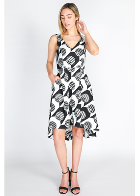 3rd Love The Label Florence V Neck Pleat Dress