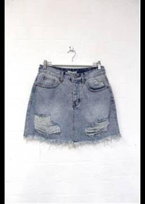 Lila Denim Skirt