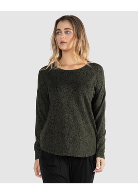 Betty Basics Betty Basics Sophie Knit Jumper Olive