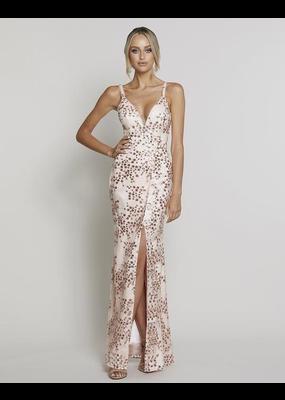 Bariano Alyssa V-Neck Gown
