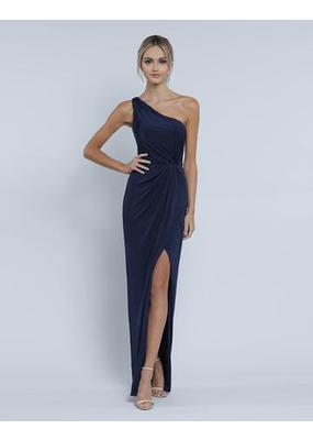 Bariano Eva one Shoulder Draped Gown