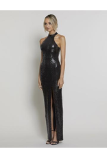 Bariano Heather High Neck Sequin Gown