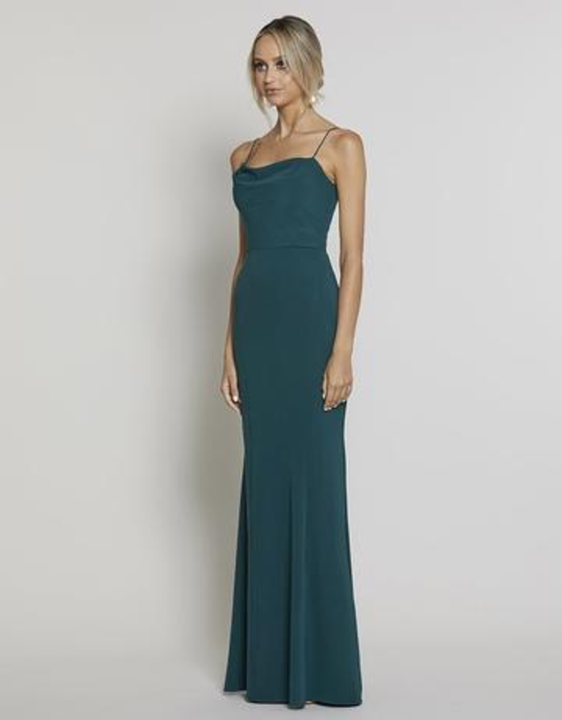 Bariano Lisianthus Cowl Gown