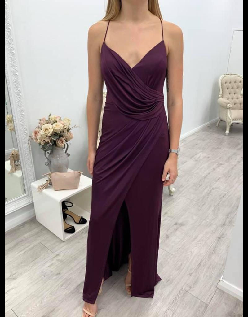 Bariano MIchelle Drape Cowl Gown