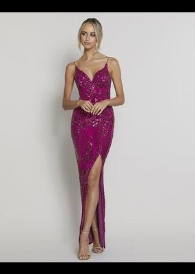 Bariano Primrose V-Neck Gown