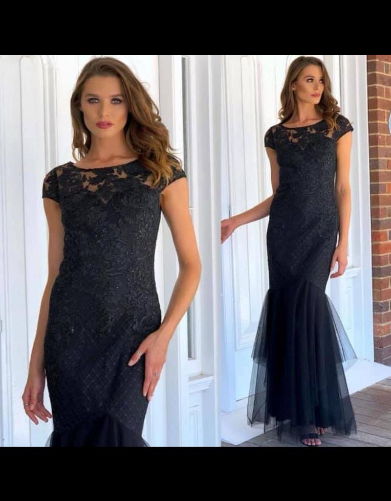 MeiMei Jess Sequin Fishtail Gown