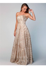 Bariano Shooting Stars Ball Gown