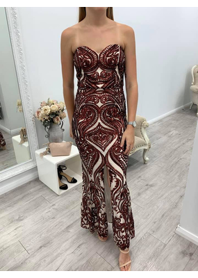 MeiMei Rose Sequin Gown