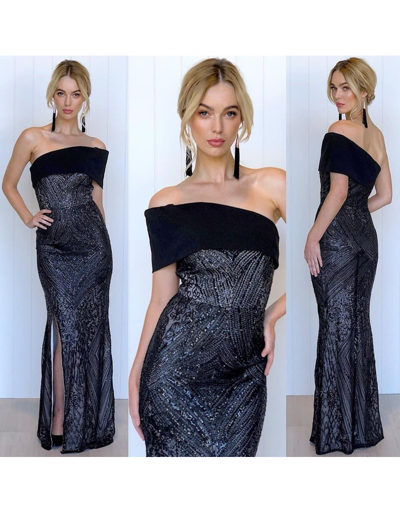 MeiMei Zali Sequin Gown