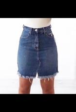 Wakee Frayed Edge Skirt