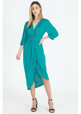 3rd Love The Label 3rd Love Kate Twist Drape Midi Dress