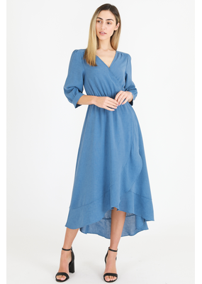 3rd Love The Label 3rd Love Lizzie Midi Wrap Dress