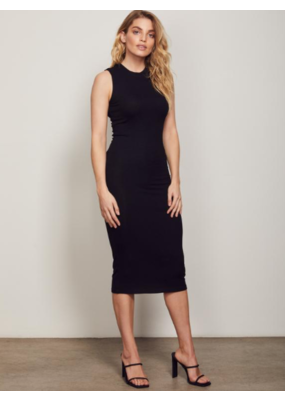 Wish Wish Holli Crew Midi Dress Black