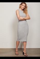 Wish Wish Holli Crew Midi Dress Grey