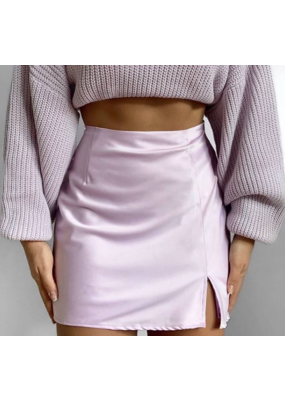 Sydney Silk Mini Skirt Pink