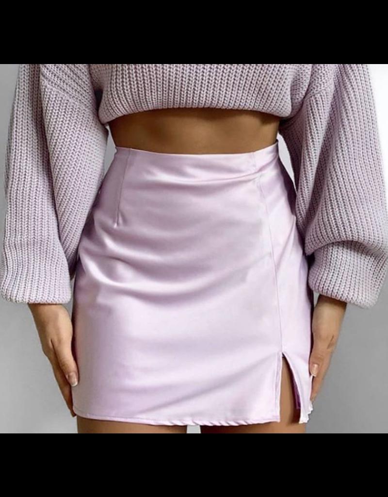 Sydney Silk Mini Skirt Pink