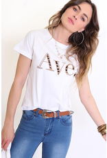 Ave Printed Tee Tan
