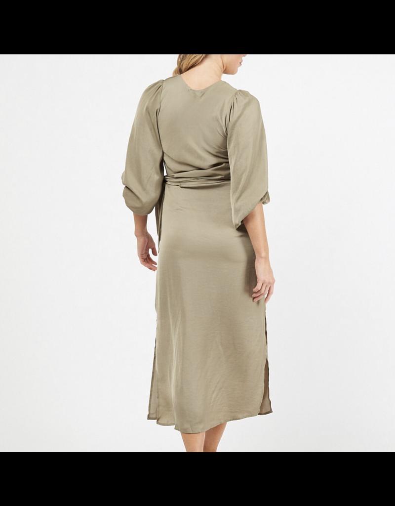 Tie Side Penelope Dress Khaki