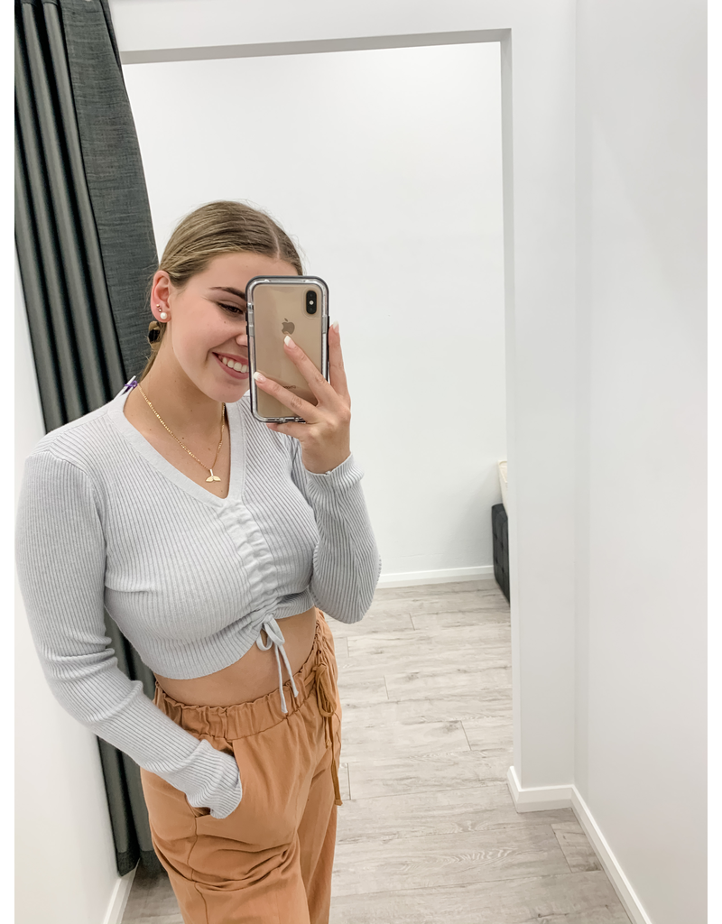Rage Abby Knitted Top Grey