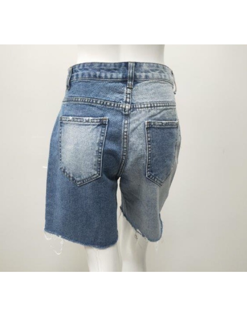 Kimberly Denim Frayed Shorts