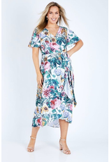 3rd Love The Label 3rd Love Posie Print Wrap Dress