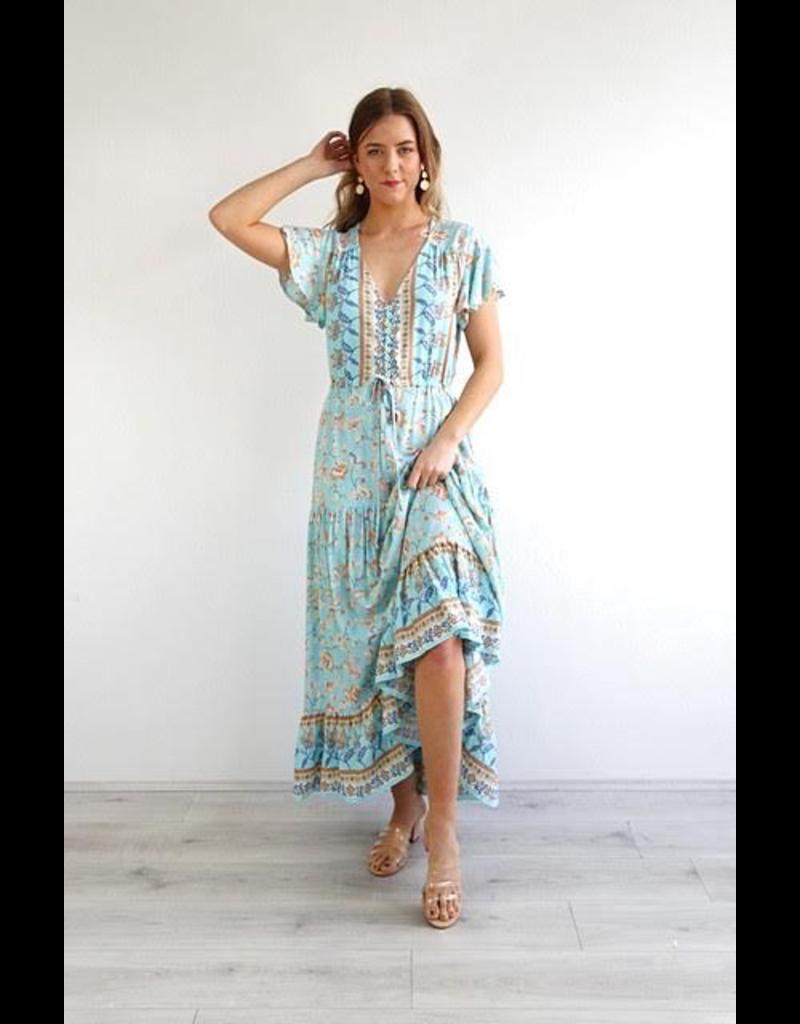 Salty Bright Essie Floral Maxi Dress