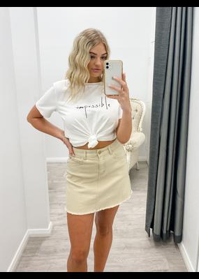 Yours Truly Khloe Denim Skirt