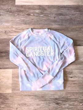 Spiritual Gangster Tie Dye Sweatshirt- Cloud