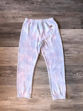 Spiritual Gangster Tie Dye Sweatpants- Cloud