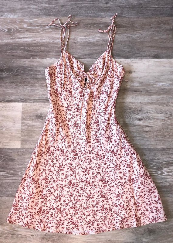 Floral Dress-Rosewood