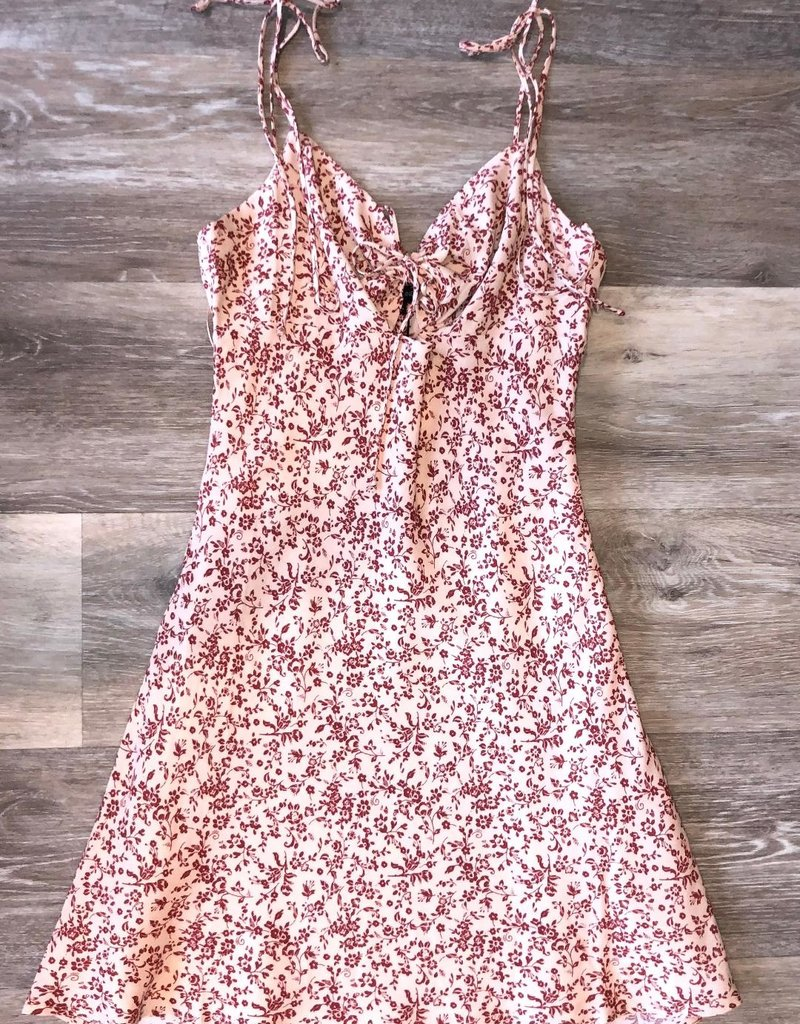 Floral Dress-Rosewood