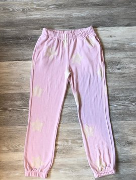 Spiritual Gangster Star Sweatpants- Light Pink