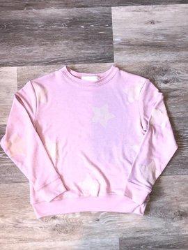 Spiritual Gangster Star Sweatshirt- Light Pink