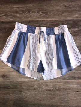 Ocean Drive Printed Smocked Shorts- Blue