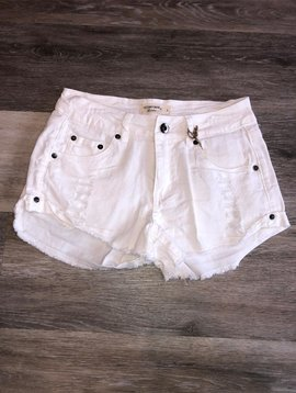 Ocean Drive Denim Shorts- White