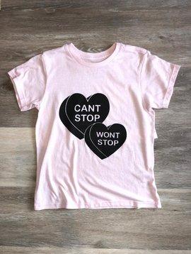 Spiritual Gangster Can't Stop T-Shirt- Ballet Pink
