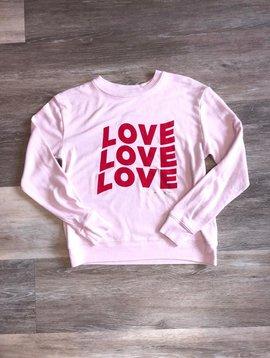Spiritual Gangster  Love Sweatshirt- Pink