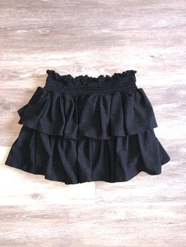 Tiered Ruffle Skirt- Black