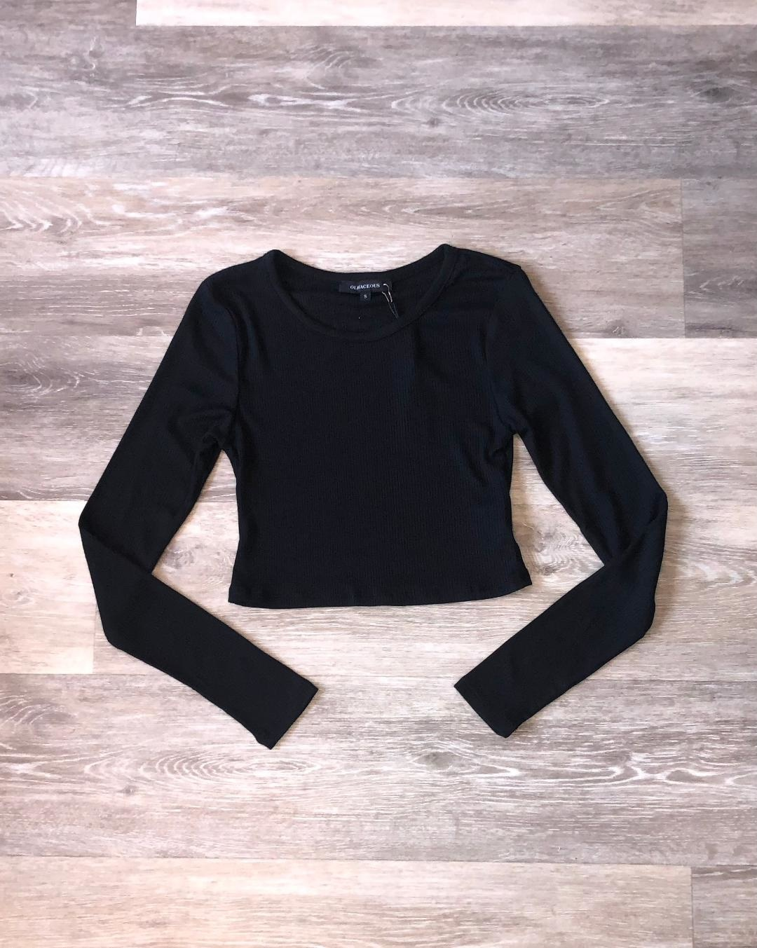Long Sleeve Top- Black