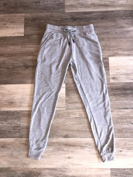 Vintage Havana Front Tie Jogger- Light Grey