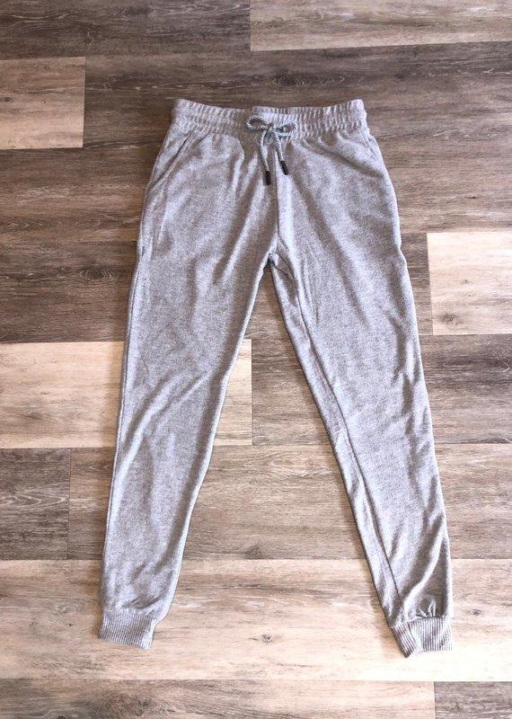 Front Tie Jogger- Light Grey