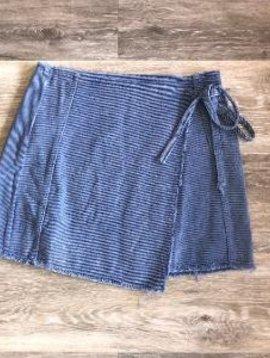 Denim Washed Wrap Skirt