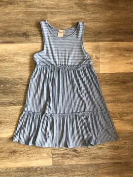 Sleeveless Blue Stripe Dress
