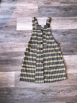 *SALE* Button Front Plaid Dress