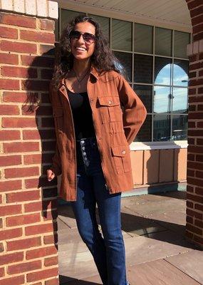 Sara Rust Utility Jacket
